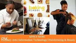 Baking|Cookery|Computer package &web design|Hairdressing and beauty