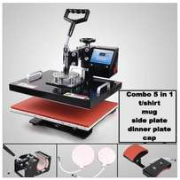 5 Combo All in One Heat Press Machines at Ksh 34999/-