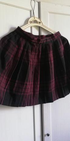 Spódnica spódniczka plisowana w kratę roz. 36 S Monki