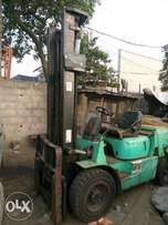 mitsubishi forklift high mast, side shift 3.5tons
