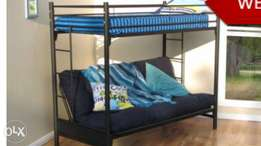 Bunk bed with double futon sleeper couch