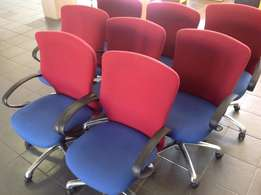 Red/Lavender Swivel Chairs