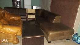 L -Shape leather couch