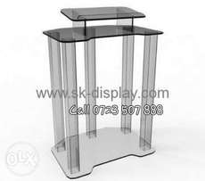 Five stand glass podium