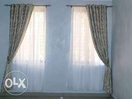 Heavy fabric sheers and curtains