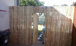 Blue gum and black wattle fencing
