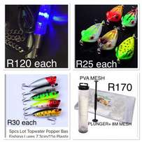 Variety of bass and specimen fishing accessories