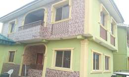 Lovely 3bedroom Flat Upstairs Tiles Round Spacious Parlor at Igando