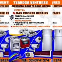 Gas cooker with oven repair s