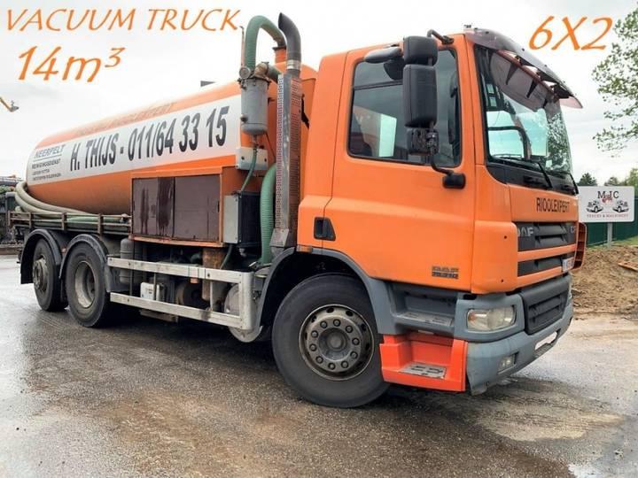 DAF CF 75.310 - 6X2 - 14m³ VACUUM TRUCK - HYDROCUREUR - - 2003