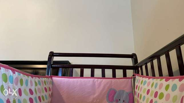 Wooden Bed for Children's with mattress and soft coverings at the side الدمام -  3