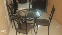 Wrought iron 4 seater dinning set