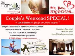 Me, You, Together! ~ Weekend Getaway for Couples