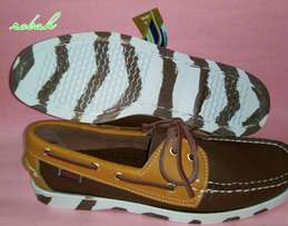 Sebago Docksides with stripes