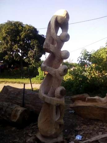 Selling wood carving Abstract pyramid 2mh Waterfall - image 2