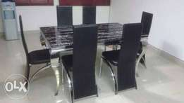Six Seater Marble Dining Table With Chairs