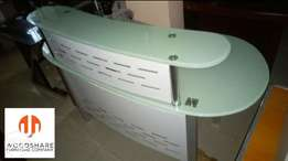 Tempered Glass Reception Table, Woodshare Furniture