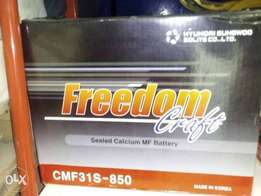 Freedom quality maintenance free motor batteries Lagos