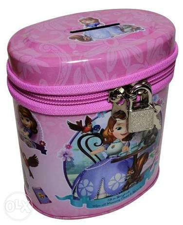 Brand New Cylinderical Money Box - Sofia The First