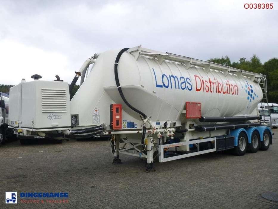 Feldbinder Bulk tank alu 49 m3 + engine/compressor / blow + vacuum - 2008