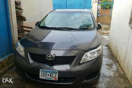 2009 tokunbo LE Toyota corolla accident free, first body