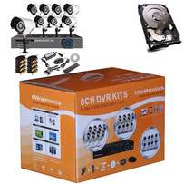 Internet 8 Channel CCTV D.I.Y Kit with HD bullet Cameras plus 500 GBHD