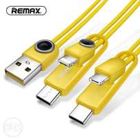 REMAX 3in1 USB Data chargin Cable for iphone7/6 Micro USB Type C 2.1A