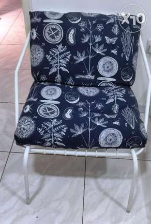 IKEA Metallic Lounge Chair with custom made Padding in excellent condi