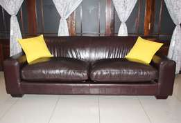 Genuine Leather Coricraft Kariba 3 Seater Couch, Excellent Condition