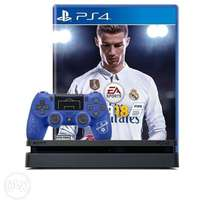 {Urgent Sale} PS4 slim console + Fifa 18+Additional PS4 Controller