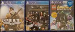 3 X PS4 GAMES ( brand new sealed ) NEVER USED R500 each