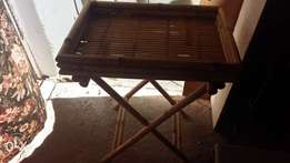 Out door bench and small cane table