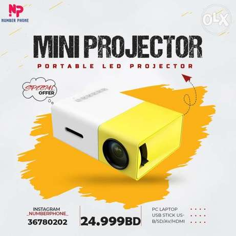 24.999BD Mini Projector, DP300 Portable LED Projector support PC Lapto