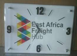 Wall clocks customised and branded