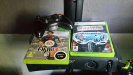 Xbox 360 with 1 control and 2 games