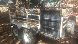 Bullperd double axle trailer for sale at reduced price