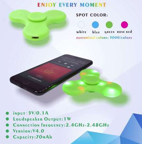 Fidget Spinner with LED Light and Bluetooth Speaker Nairobi CBD - image 5