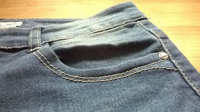 1fed637b99320 Spodnie dżinsowe jeansy niebieskie zwężane nogawki rurki Poznań - image 5