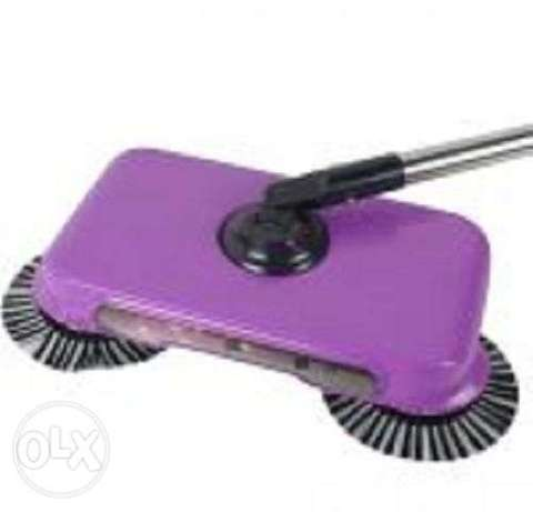 Natural Sweep Dual Brush Sweeper without Electricity Manual Push Sweep