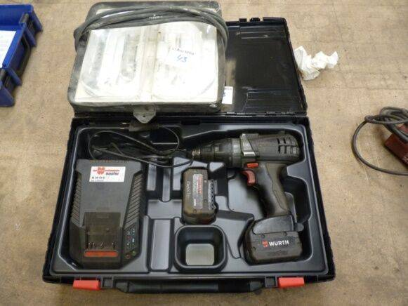 Sale drill/screw driver on wurth battery, 2 batteries, charger, - 2012