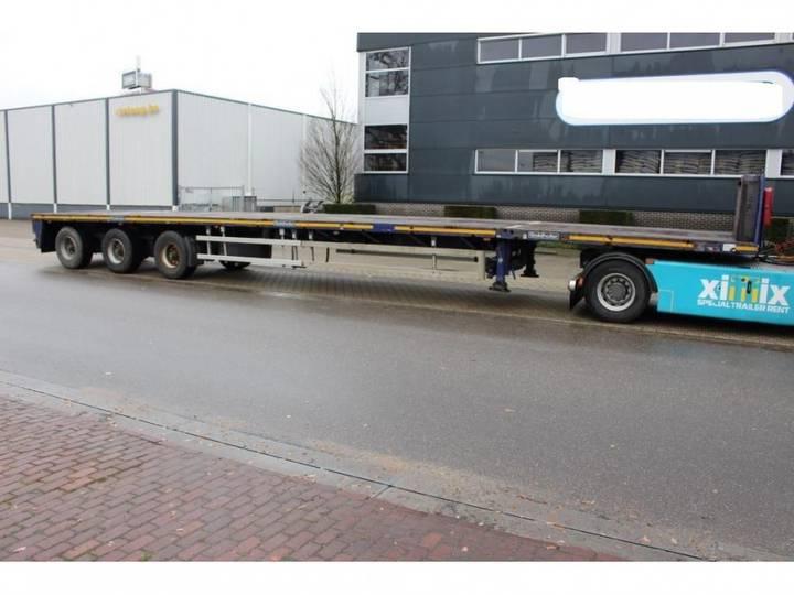 Goldhofer Vlakke dubbel (2x) uitschuifbare oplegger // 3x gestuurd - 2008