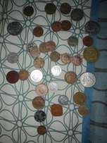 Old coins and bank notes