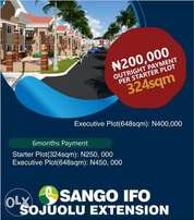 OWN A PLOT in Sango Ifo at giveaway price
