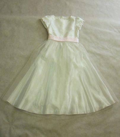 85e698ef Sukienka z bolerkiem I komunia święta roz. 146 biała tiul ...