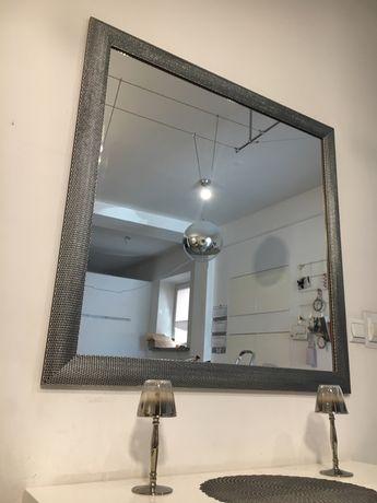 Lustro Srebrne 1m X 1m Duże Do Przedpokoju łazienki Salonu