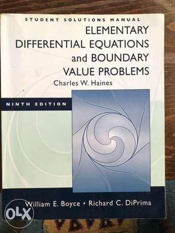 Elementary Differential Equations and Boundary V pro- student Solution