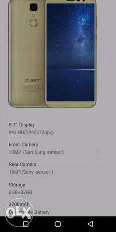 Cubot 4g enabled 32GB RAM and 3 GB ROM. Sotik - image 3