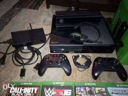 xbox one + games +kinect Xbox one 500GB console