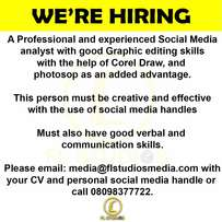 A Social Media Analyst Needed Urgently