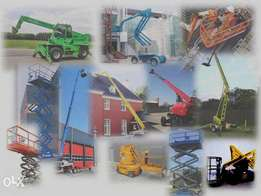 Cherry Pickers- Boom lifts, Scissor lifts, telehandlers, hire/sales